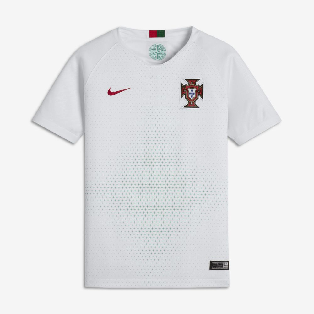 Nike Portugal Away Jersey Youth 2018 - White/Red - World Cup 2018