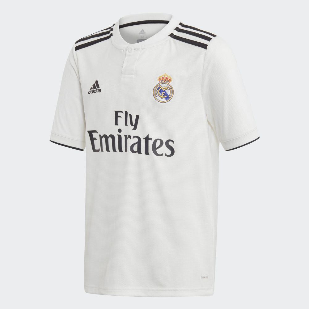 adidas Real Madrid Home Jersey Youth 2018/19 - White