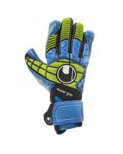 uhlsport Eliminator Supergrip Gloves-Black/Blue