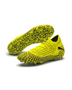 Puma Future 4.1 Netfit Fg/Ag Mens Soccer Cleats - Yellow black