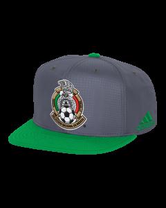 adidas Mexico Two-Tone Snapback Hat - Gray/Green 6