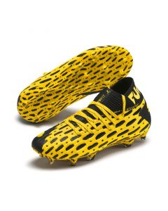 Puma Future 5.1 Netfit Firm Ground/Artifical Ground Soccer Cleats Junior - Yellow/Black