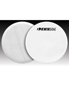 """Kwikgoal Flat Round Marker White 10"""" - Pack Of 10"""