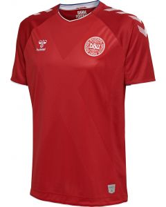 Hummel Denmark Home Jersey Mens 2018/19 - Red/White - World Cup 2018