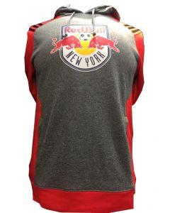 adidas NY Red Bull MLS Hoodie Grey