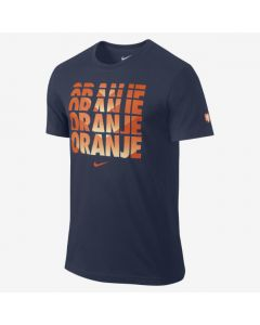Nike Dutch Core Type Tee - Navy/Orange