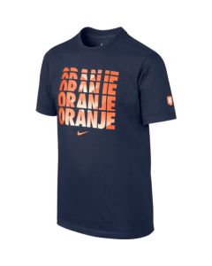 Nike Dutch Core Type Tee Youth - Navy/Orange