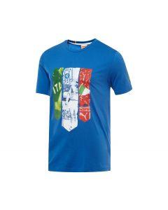 PUMA FIGC Italia Badge Tee - Royal