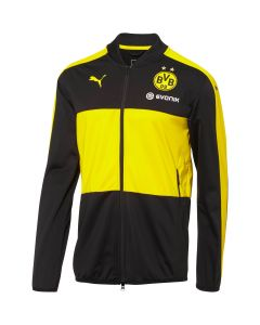 PUMA BVB Poly Jacket With Sponsor - Black/Yellow