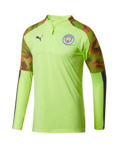 Puma Mens Manchester City 1/4 Zip Training Top - Yelllow