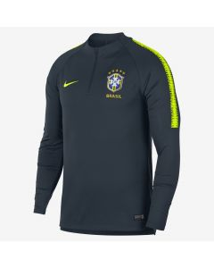 Nike Brasil Dry-FIT Squad Drill Top - Armory Navy/Volt