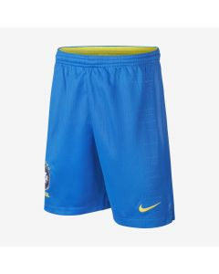 Nike Brasil Home Shorts Youth 2018 - Soar Blue/Gold - World Cup 2018