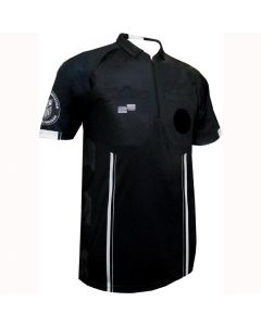 USSF Pro SS Referee Shirt - Black/White