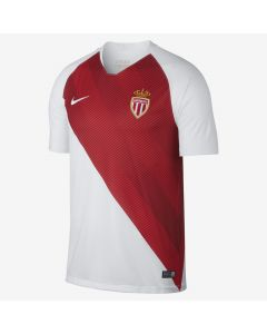 Nike AS Monaco Home Jersey Mens 2018/19 - White/Red