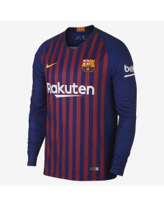 Nike Barcelona Home LS Jersey Mens 2018/19 - Navy/Red