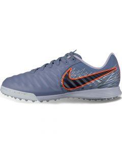 Nike Tiempo LegendX 7 Academy Turf Soccer Shoes Junior - Grey/Black - Voctory Pack