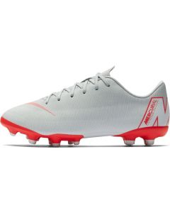 Nike Mercurial Vapor 12 Academy MG Jr - Wolf Grey/Crimson - Raised on Concrete