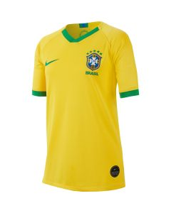 Nike Brasil Youth Home Jersey 2019/20 - Gold/Green