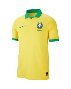 Nike Brasil Mens Home Jersey 2019 - Gold/Green