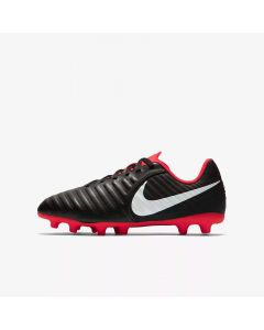 Nike Tiempo Legend 7 Club FG Jr - Black/Crimson - Raised on Concrete