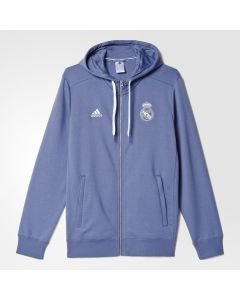 adidas Real Madrid 3 Stripe Zip Hoody - Purple