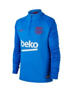 Nike FC Barcelona Dri-Fit 1/4 Zip Youth Strike Top - Royal