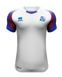 Errea Iceland Away Jersey Mens 2018/19 - White/Blue - World Cup 2018