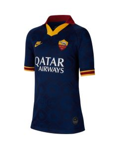 Nike A.S. Roma Youth third stadium soccer Jersey 2019/20 -Navy