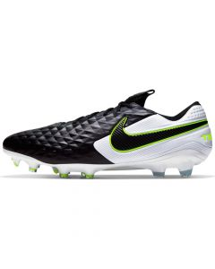 Nike Mens Tiempo Legend 8 Elite Firm Ground Soccer Cleats - Black/White