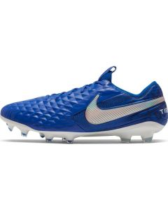 Nike Mens Tiempo Legend 8 Elite Firm Ground Soccer Cleats - Royal/White