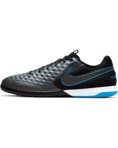 Nike React Tiempo Legend 8 Pro Indoor Soccer Cleats - Black/Blue - Under the Radar