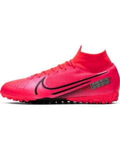 Nike Mercurial Superfly 7 Elite Turf Soccer Shoes Mens - Laser Crimson - Future Lab PT1