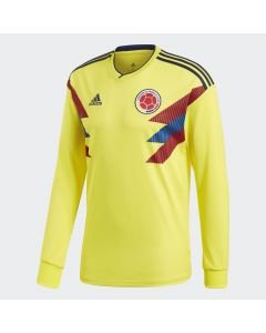 adidas Colombia Home LS Mens Jersey 2018 - Yellow - World Cup 2018