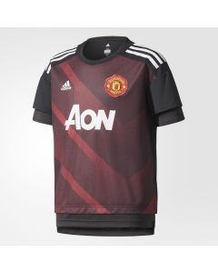 adidas Manchester United Home Pre-Match Jersey Youth 2017/18 - Red/Black