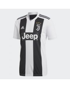 adidas Juventus Home Jersey Mens 2018/19 - Black/White