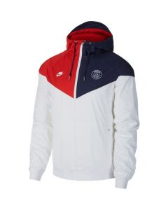 Nike PSG Paris Saint-Germain Windrunner soccer Jacket - White/Red/Blue
