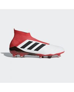 adidas Predator 18+ FG- White/Black/Red - Cold Blooded