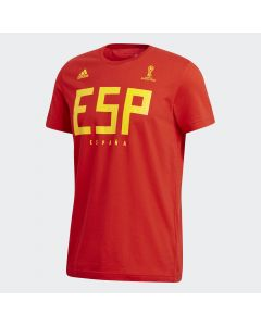 adidas Spain Tee Mens - Red/Yellow