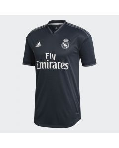adidas Real Madrid Authentic Away Jersey Mens 2018/19 - Black