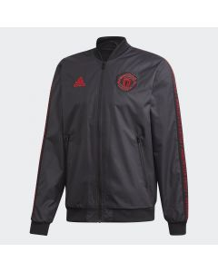 adidas Manchester United Anthem Jacket Mens - Black