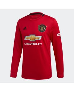 adidas Manchester United Home Long Sleeves Soccer Jersey 19/20-Red