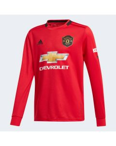 adidas Manchester United Youth Home Long Sleeve Jersey 2019/20-Red