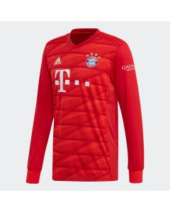 adidas Bayern Munich Home Mens Long Sleeve Jersey 19/20-Red