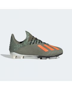 Adidas X 19.1 Firm Ground Soccer Cleats Junior - Green/Orange - Encryption Pack