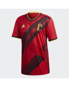 adidas Belgium Mens Home Jersey 2019 20- Red black