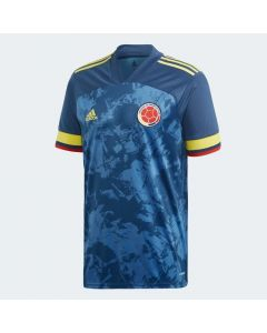 adidas Colombia Mens Away Soccer Jersey 2019/20 - Blue