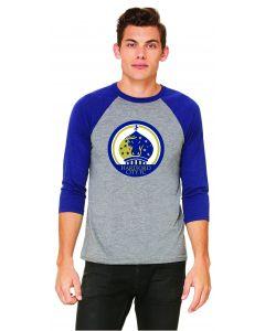 Hartford City FC 3/4 Sleeve Baseball T-shirt - Grey Navy