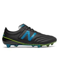 New Balance Furon 3.0 K-Leather FG - Black/Blue (Wide)