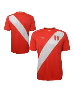 Umbro Peru Away Jersey Mens 2018 - Red/White - World Cup 2018