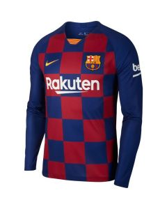 Nike FC Barcelona Stadium Mens Home long sleeve soccer jersey 2019/20